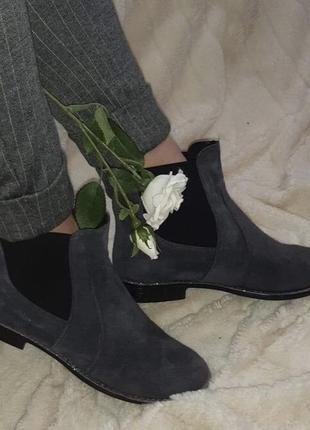 Замшевые ботиночки,отличное качество удобные и стильные