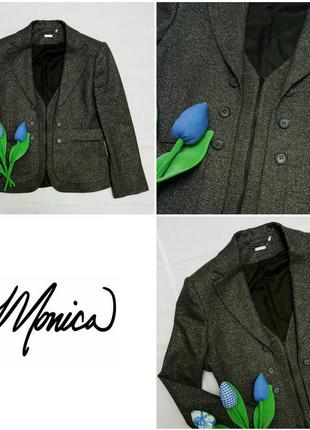 Теплый пиджак с люрексом monica ricci