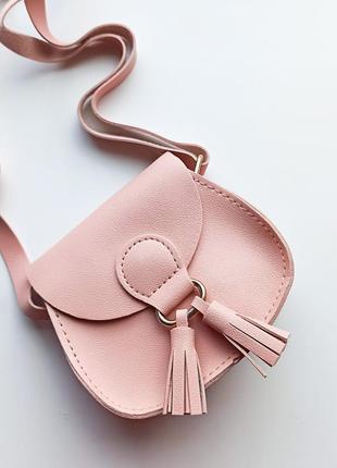 Ніжна пудрова сумочка для маленької принцеси