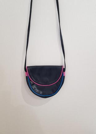 Маленькая черная кожаная сумочка giovanni