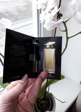 🌿 пробник парфюмированная вода dolche&gabbana the one, 1,5ml2 фото