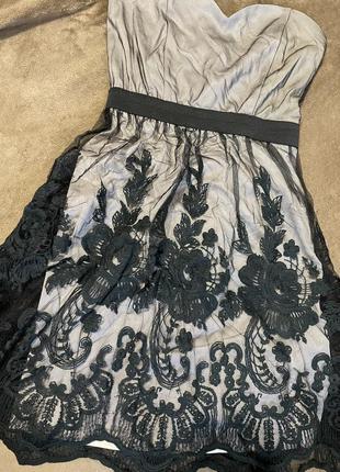 Платье кружево сетка