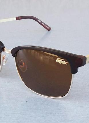 Lacoste очки унисекс солнцезащитные коричневые