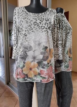 Милый и нежный пуловер большого размера