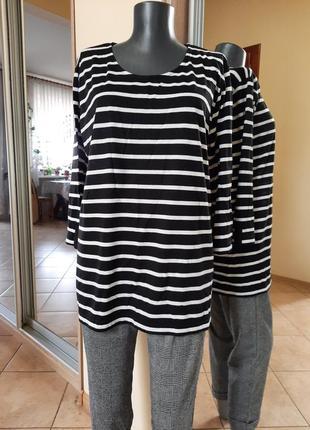 Стильный пуловер, лонгслив большого размера