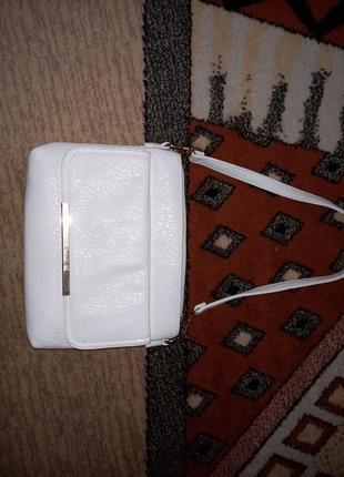 Новая сумка белая экокожа