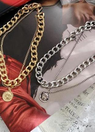 Ожерелье цепь тренд 2021 цепочка с кулоном колье цепи