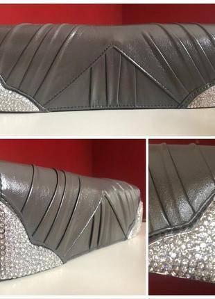 Vivian clutch women's / італія / вишуканий клатч з кристалами / 27х9см
