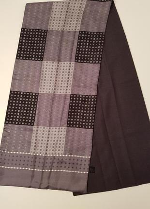 Статусный двухсторонний шарф шелк + шерсть италия