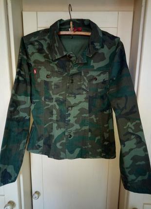 Рубашка куртка камуфляж миллитари jennyfer приталенная 46р.