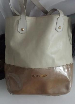 Кожаная сумка для шопенга