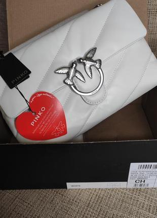 Кожаная сумка в стиле pinko puff