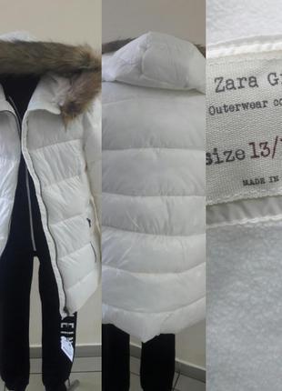 Теплая стильная куртка от zara italy