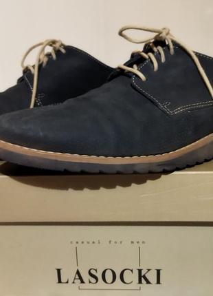 Туфли натуральный нубук, натуральная кожа. стелька 28 см
