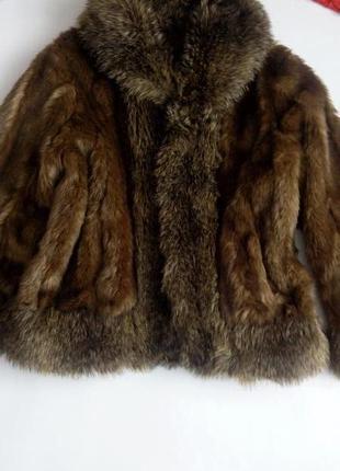 Демисезонная шуба полушубок меховая 50 52 размер per una коричневая весенняя