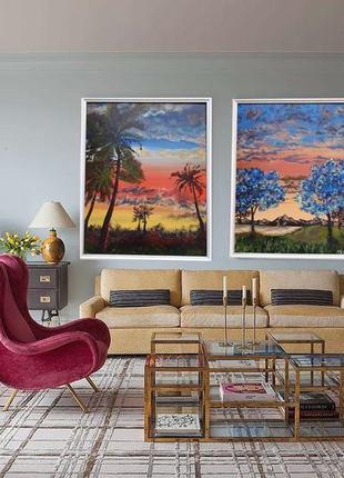 Авторська робота 40×50 (акрилові фарби) фантастичний пейзаж