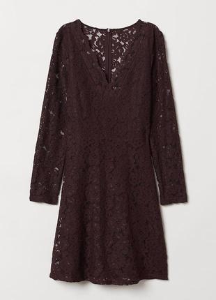 Роскошное кружевное платье/ h&m/распродажа!