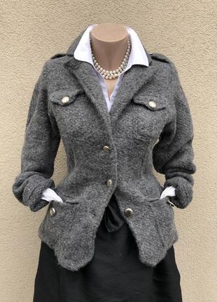 Шерстяной жакет,пиджак,кардиган,кофта,короткое пальто,италия,marisol