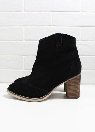 Черные ботинки asos на каблуке
