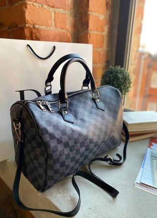 Брендовая вместительная дорожная сумка в стиле louis