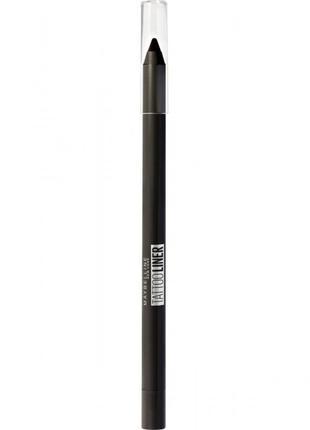 "Контурный карандаш для глаз maybelline  ""tattoo liner"" (оттенок 901 ( intense charcoal)"