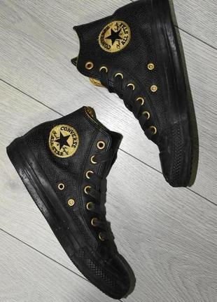 Новые кожаные высокие кеды размер 37,5 оригинал