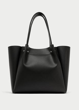 Стильная сумка шоппер zara