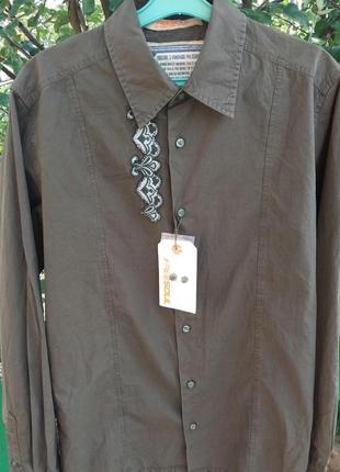 Стильная рубашка  freesoul цвета хаки