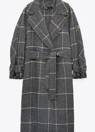 Пальто из смеховой шерсти zara