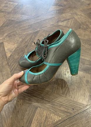 Туфли кожаные, испания, туфли со шнурками, кожа, размер 39