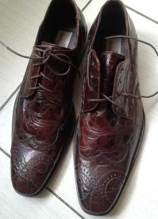 Итальянские кожаные туфли 41 размер