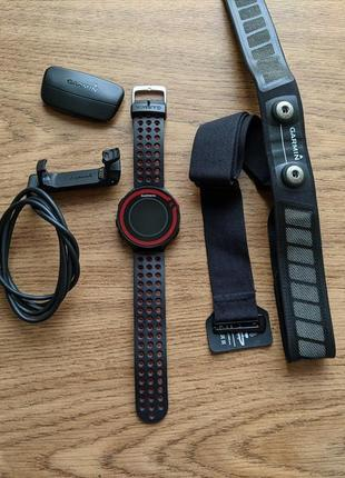 Garmin forerunner 220 спортивные часы нагрудный пульсометр hrm3-ss датчик пульса 245 235
