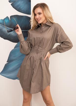 Платье-рубашка коттон, есть цвета, размеры