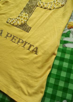 Новая желтая  футболка известного бренда!!!