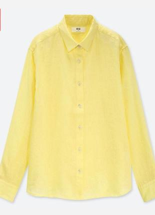 Рубашка из льна премиум качества uniqlo2 фото