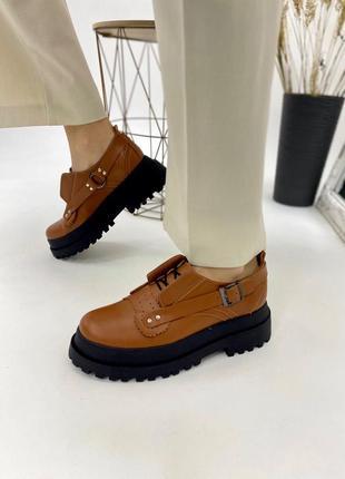 Жіночі шкіряні черевики на платформі