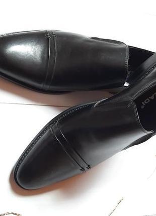 Удобные из натуральной кожи кожаные мужские туфли без шнурков2 фото