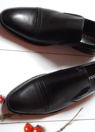 Удобные из натуральной кожи кожаные мужские туфли без шнурков3 фото