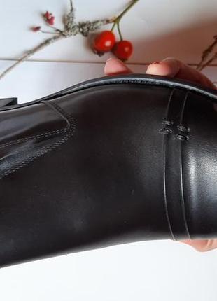 Удобные из натуральной кожи кожаные мужские туфли без шнурков5 фото