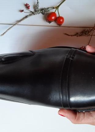 Удобные из натуральной кожи кожаные мужские туфли без шнурков9 фото
