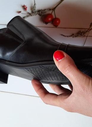 Удобные из натуральной кожи кожаные мужские туфли без шнурков4 фото