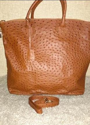 Итальянская кожаная сумка новая vera pelle