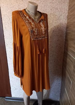 Платье туника с вышивкой lc waikiki