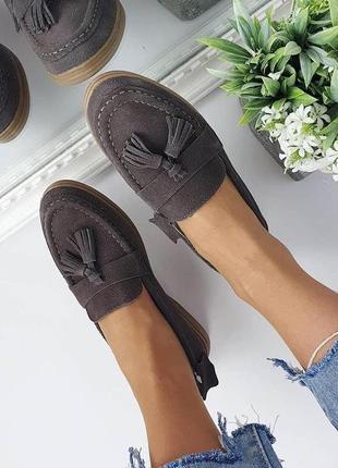 Женские замшевые туфли лоферы мокасины,натуралки,36-40