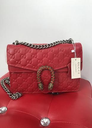 Кожаная сумка красная сумочка кроссбоди клатч сумка через плечо