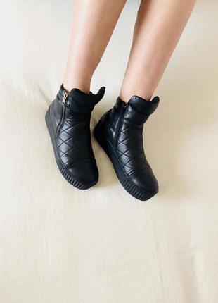 Красивые кожаные ботинки, полуботинки, сапоги, сапожки, сникерсы.3 фото