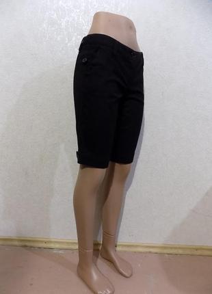 Шорты черные плотные трикотажные фирменные amisu размер 44