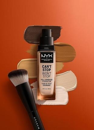 Тональная основа nyx professional makeup can't stop won't stop full coverage foundation