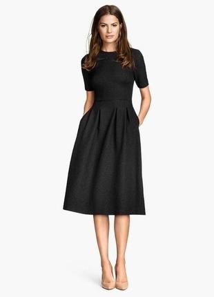 Платье чёрное mango классика базовое