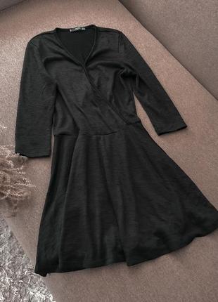 Платье чёрное mango классика базовое2 фото